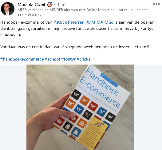 Het Handboek E-commerce (AtMost) verovert hogescholen