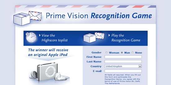 Prime Vision/TNT Recognition Viral Game en buzzcampagne