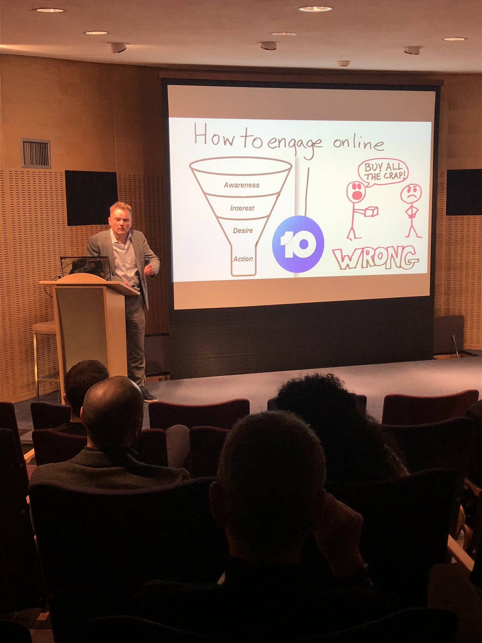 Visueel verslag: Keynote AtMost op Growthhack2020 event