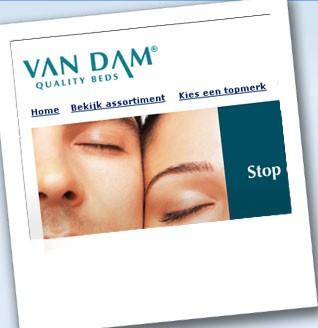 E-commerce, SEM, social en contentmarketing Van Dam + Hästens – Auping – Jensen Stores: alle topmerken bedden