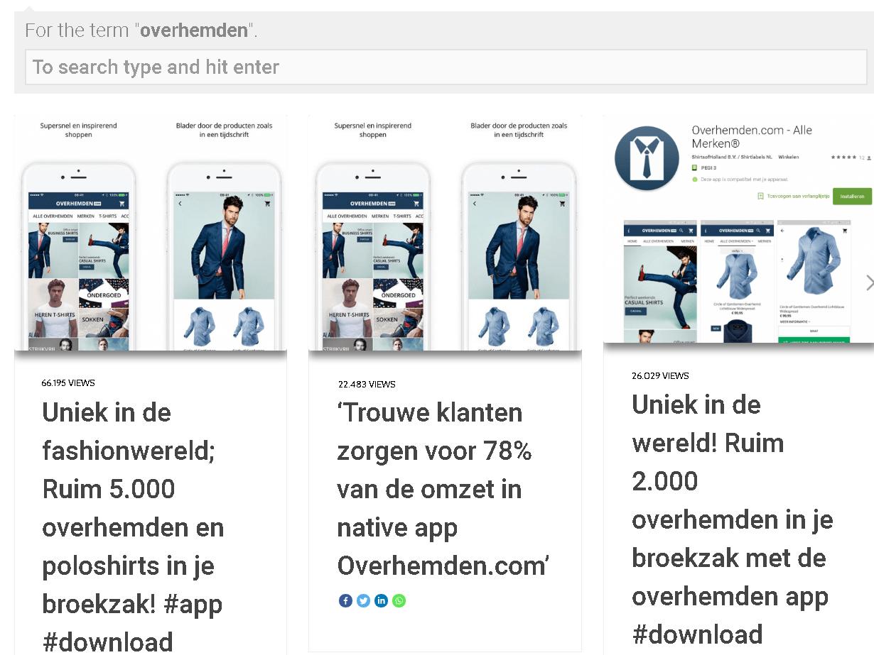 Branded content voor jong, kwaliteitsmerk Overhemden.com